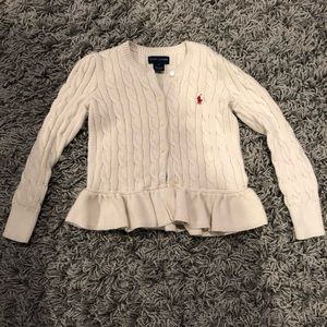 USED! POLO Ralph Lauren Cream sweater 5T Girls